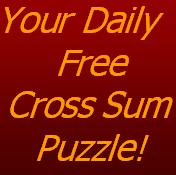 picture regarding Cross Sums Printable referred to as Todays No cost Cross Amount of money Puzzle